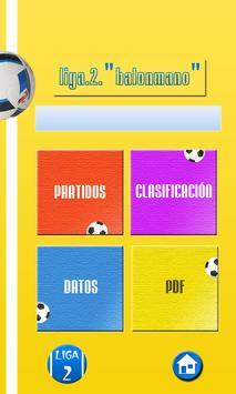 Organizador Liga de Balonmano screenshot 3