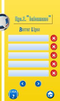 Organizador Liga de Balonmano screenshot 7