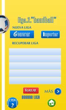 Organizador Liga de Balonmano screenshot 6