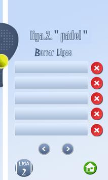 Organizador Liga de Pádel apk screenshot