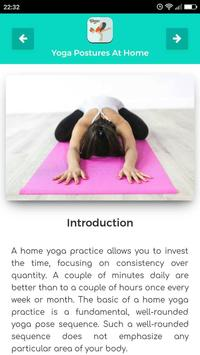 Yoga Postures At Home screenshot 1