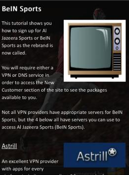 Easy guide to get bein sports poster