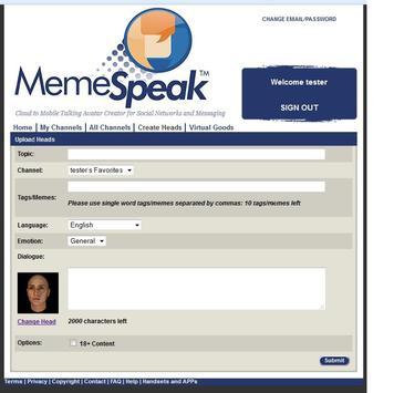 MemeSpeakTheAPP (updated Android APP is MemeSpeak) apk screenshot