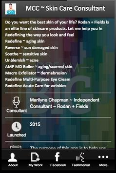 MCC ~ Skin Care Consultant poster
