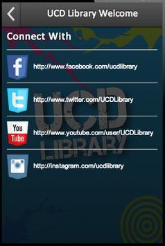 UCD Library Welcome screenshot 1