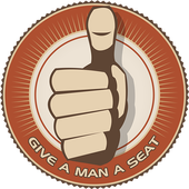 Give a man a seat icon