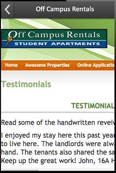 Off Campus Rentals screenshot 2