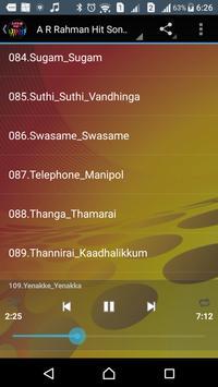A R Rahman Hit Songs Tamil poster
