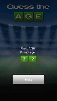 Soccer: Guess the age apk screenshot