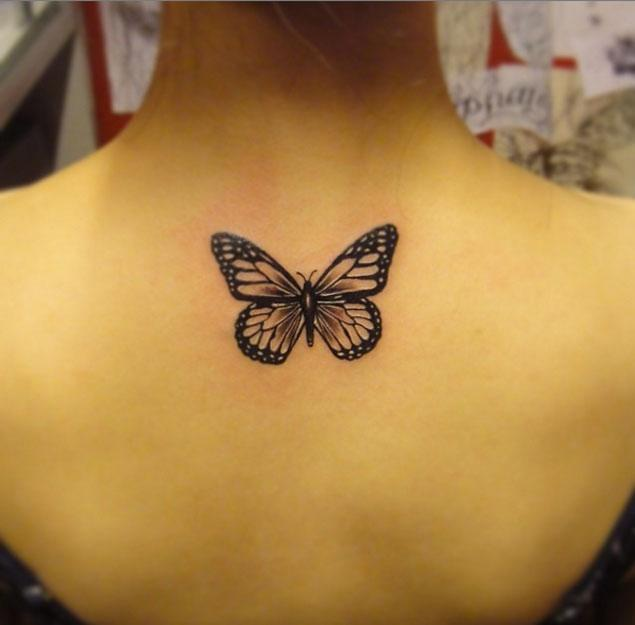 Hand Tattoo Designs Girls Butterfly Love Tattoo For