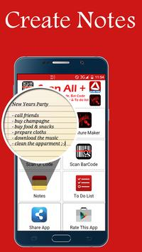 Scan All in one + (PDF, doc bar qr Notes) apk screenshot