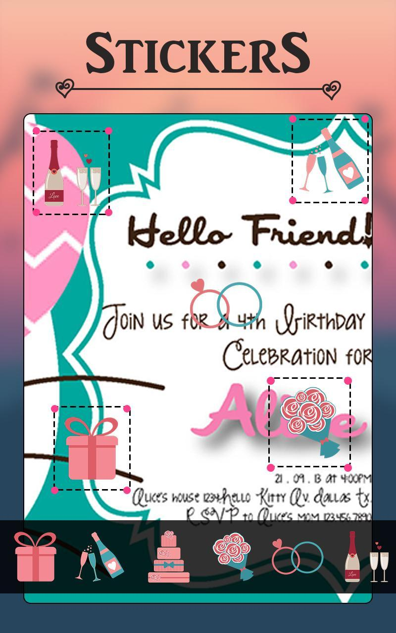 Kitty Party Invitation Card Maker For Android Apk Download