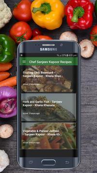 Chef Sanjeev Kapoor Recipes HD screenshot 1