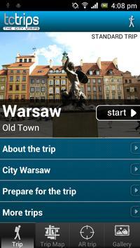 TcTrips Warsaw poster