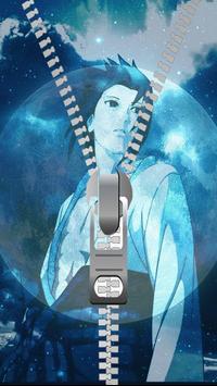 Sasuke Zipper Lock Screen poster