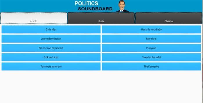 Various Politics Soundboard poster