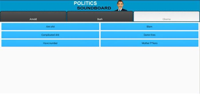 Various Politics Soundboard apk screenshot