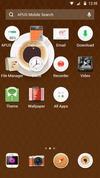 Food&I Love Coffee-APUS launcher theme скриншот 1