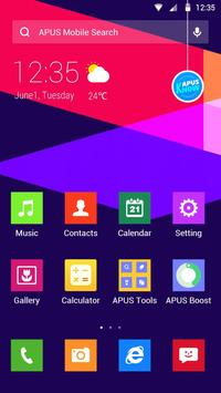 Color Lump-APUS Launcher theme poster