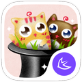 Cute cats stickers theme