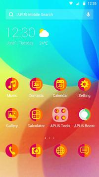 Colourful-APUS Launcher theme poster