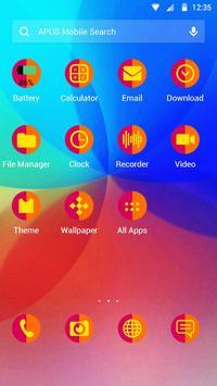 Colourful-APUS Launcher theme apk screenshot
