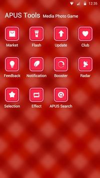 A piece of red cloth theme apk screenshot