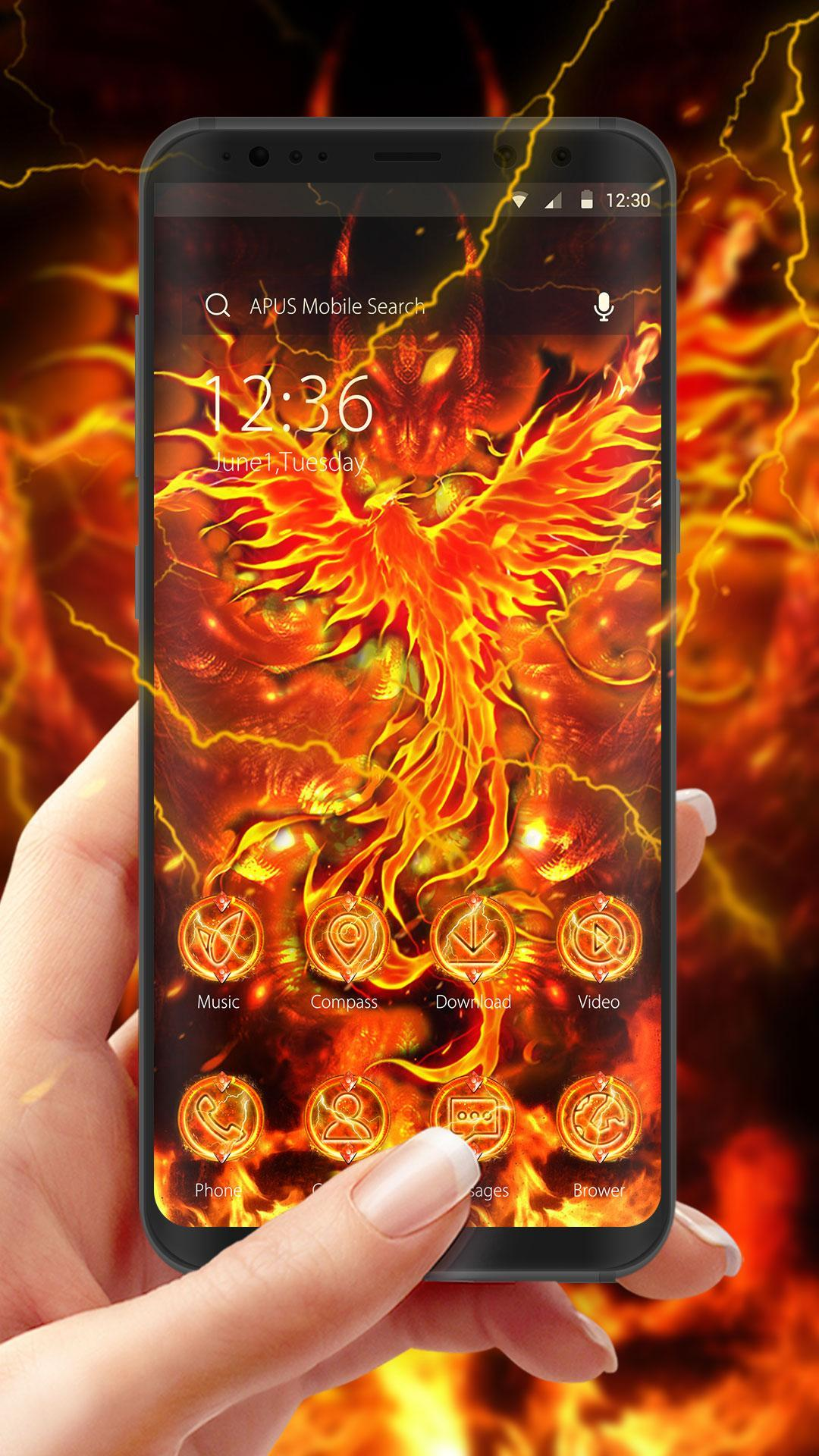 flaming phenix apus theme hd wallpapers for android apk download flaming phenix apus theme hd