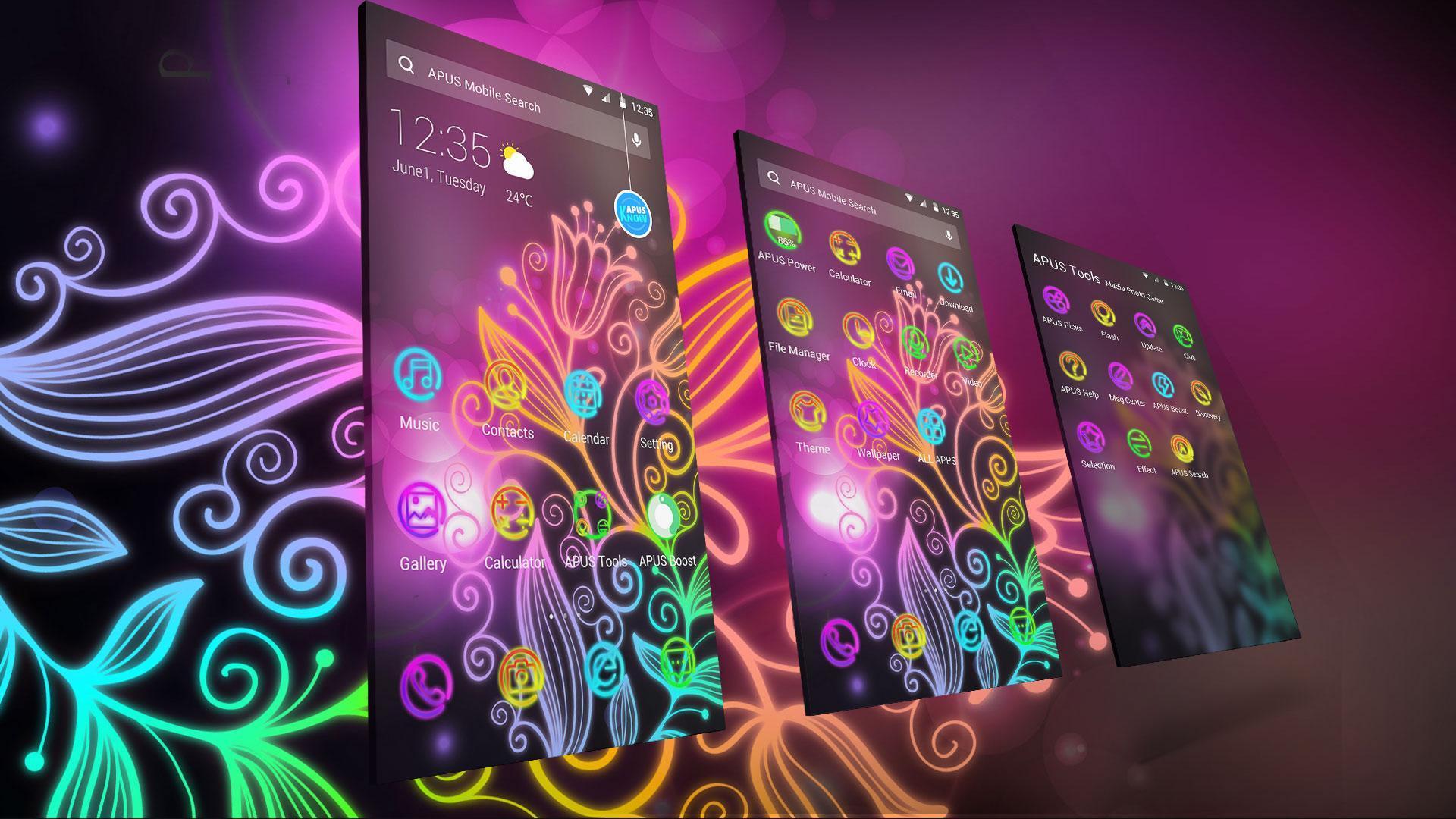 Indah Neon Warna Warni Bunga Tema Wallpaper For Android Apk Download