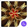 New black golden flower APUS luxury business theme أيقونة