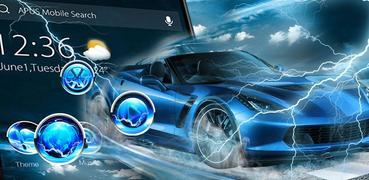 Blue Lightning Cool Car theme & wallpapers