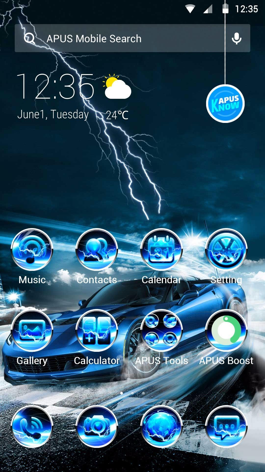 Blue Lightning Cool Car Theme Wallpapers For Android Apk Download