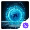 ikon Blue Neon Future Tech -- APUS launcher theme