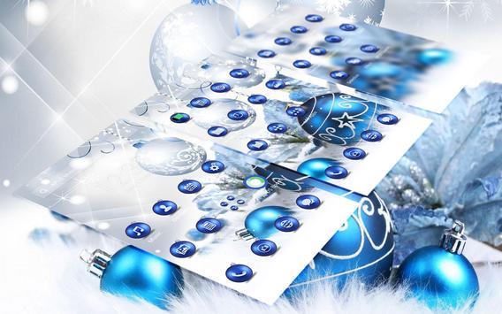 Blue Shine Ball APUS Launcher Theme HD Wallpaper Poster