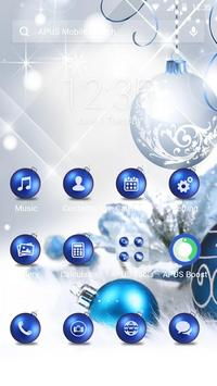 Blue Shine Ball APUS Launcher Theme HD Wallpaper Screenshot