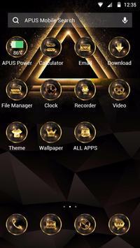 GoldenTriangle-APUS Launcher theme for Andriod apk screenshot