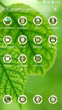 Green|APUS Launcher theme screenshot 1