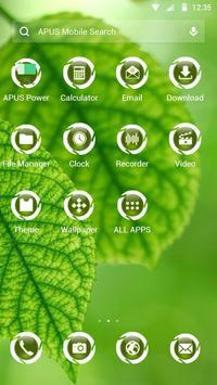 Green APUS Launcher theme apk screenshot