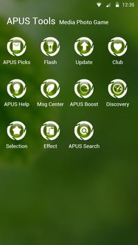 Green|APUS Launcher theme screenshot 2