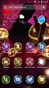 Colorful night-APUS Launcher free theme poster
