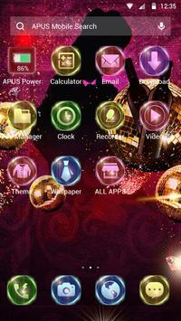 Colorful night-APUS Launcher free theme screenshot 1