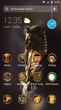 Egypt Scenery Gold Mystery theme-APUS theme poster