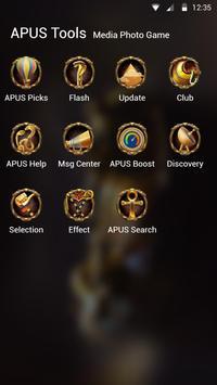 Egypt Scenery Gold Mystery theme-APUS theme apk screenshot