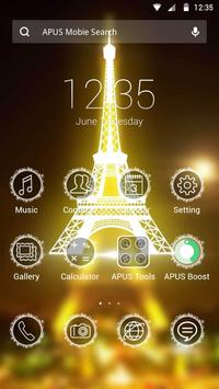 Eiffel Tower theme for Apus poster