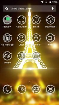 Eiffel Tower theme for Apus apk screenshot