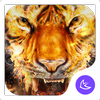 Flame Cool Tiger- APUS Launcher Free Theme icon