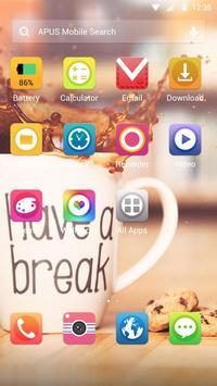 Coffee time food theme apk screenshot