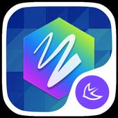 Hexagram theme for APUS icon