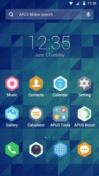 Hexagram theme for APUS poster