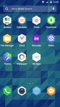 Hexagram theme for APUS screenshot 1